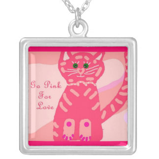 Go Pink for Love Kitty Valentine necklace