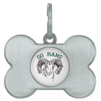 Go Rams Pet Name Tag