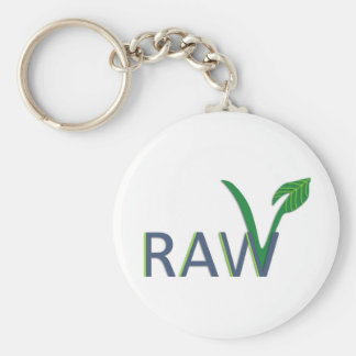 go raw basic round button key ring