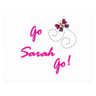 Go Sarah Go! Butterfly Postcard