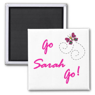 Go Sarah Go! Butterfly Square Magnet