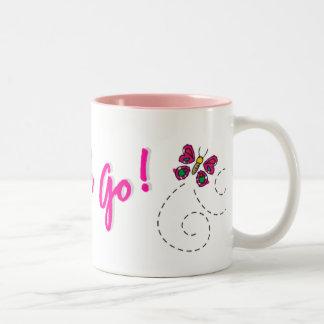 Go Sarah Go! Butterfly Two-Tone Mug