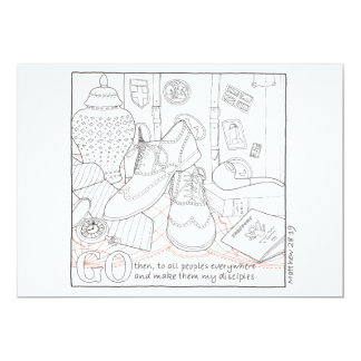 Go Scripture Coloring Postcard 13 Cm X 18 Cm Invitation Card