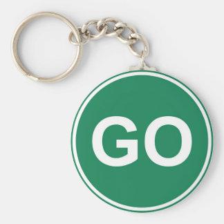 GO Sign Key Ring