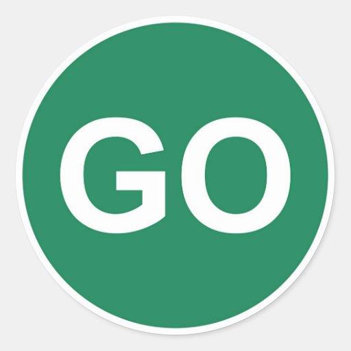 GO Sign Round Sticker