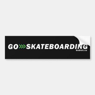 Go Skateboarding (Dark Background) Bumper Sticker