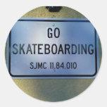 GO SKATEBOARDING STICKERS