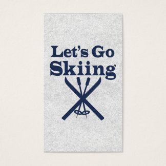 Go Skiing Business Card