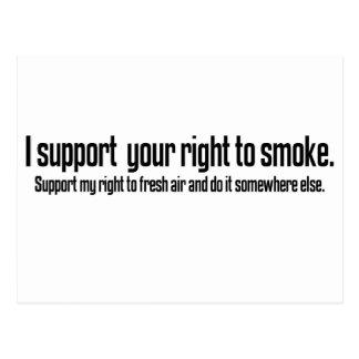Go smoke somewhere else postcard