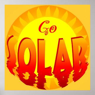 Go Solar Energy Poster