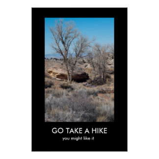 GO TAKE A HIKE demotivational poster