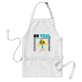 Go Teal For Ovarian Cancer Awareness Month Standard Apron