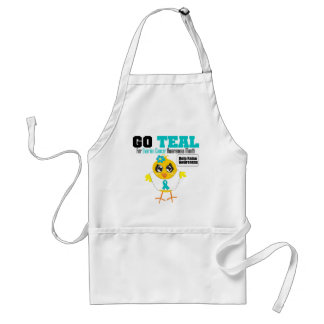 Go Teal For Ovarian Cancer Awareness Month v2 Standard Apron