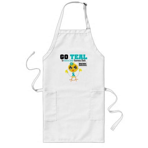 Go Teal For Ovarian Cancer Awareness Month v2 Aprons