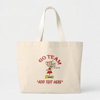 Go Team Cheerleader Jumbo Tote Bag
