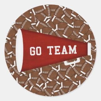Go Team Classic Round Sticker
