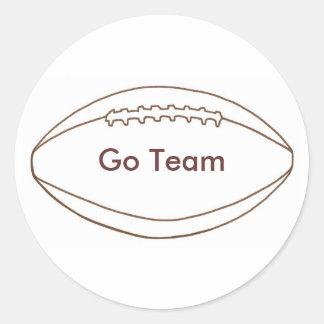 Go Team football Outline stickers
