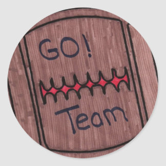 go team football stickers