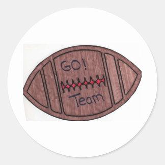 go team football sticker