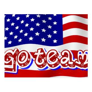 Go Team Go!,USA_ Postcard