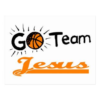 Go Team Jesus Christian Postcard