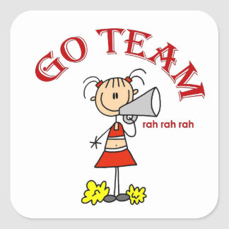 Go Team Rah Rah Rah T-shirts and Gifts Square Sticker