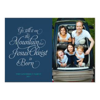 Go Tell it On the Mountain Christmas Card 13 Cm X 18 Cm Invitation Card