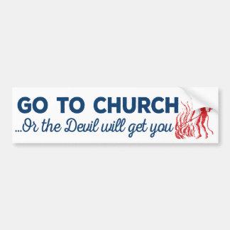 Go To Church Sticker Bumper Sticker