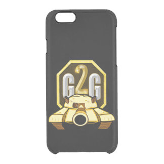 Go to garage phone case clear ice black