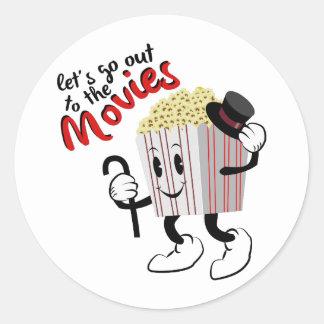 Go To Movies Round Sticker