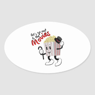 Go To Movies Oval Sticker