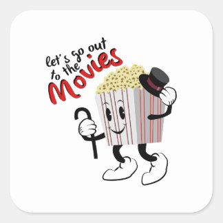 Go To Movies Square Sticker