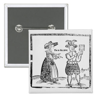 Go to the Wars, illustration from a pamphlet showi 15 Cm Square Badge