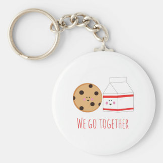 Go Together Basic Round Button Key Ring