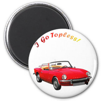 Go Topless 6 Cm Round Magnet