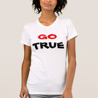 Go True Red & Black Text T-Shirt