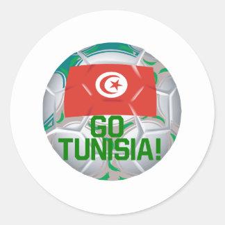Go Tunisia Round Sticker
