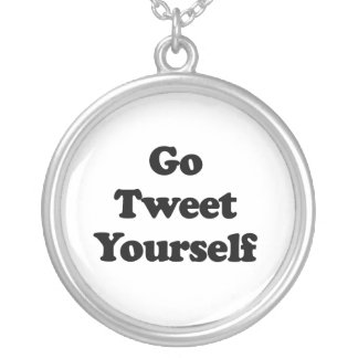 Go Tweet Yourself .png Personalized Necklace