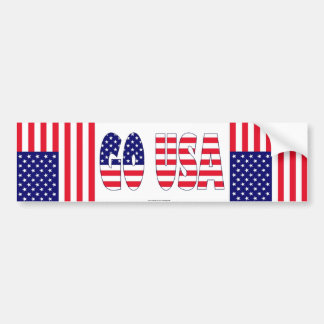 Go USA flag bumper sticker