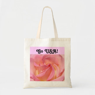 Go USA gifts Tote Bags custom Pink Rose