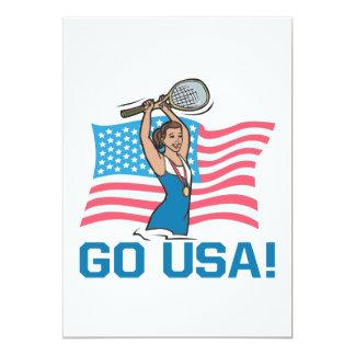 "Go USA 5"" X 7"" Invitation Card"