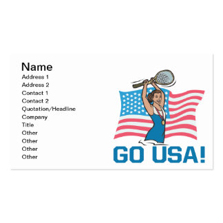 Go USA Pack Of Standard Business Cards