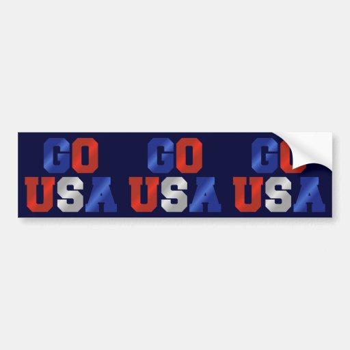 GO USA Red White & Blue 3-in-1 Bumper Stickers