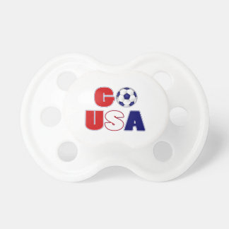 Go USA Soccer Baby Pacifier