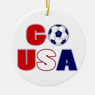 Go USA Soccer Christmas Ornament
