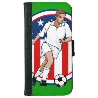 Go USA Soccer Design iPhone 6 Wallet Case