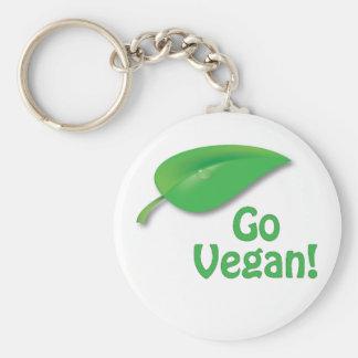 Go Vegan! Basic Round Button Key Ring