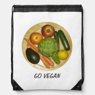 Go Vegan Drawstring Bag