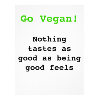 Go vegan emergency-hung tastes as good being being 21.5 cm x 28 cm flyer