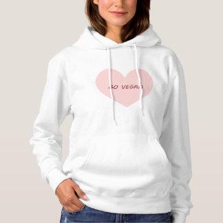 Go vegan heart hoodie